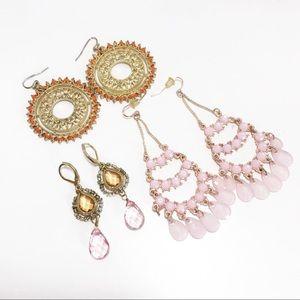 Jewelry - Bundle of 3 Ornate Boho Dangle Earrings